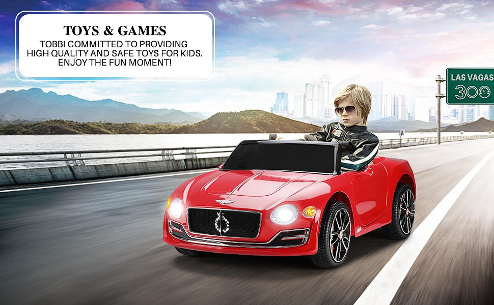 12V Bentley Licensed Electric Kids Ride On Racer Cars Toy with Remote Control, Red TH17W0568 7