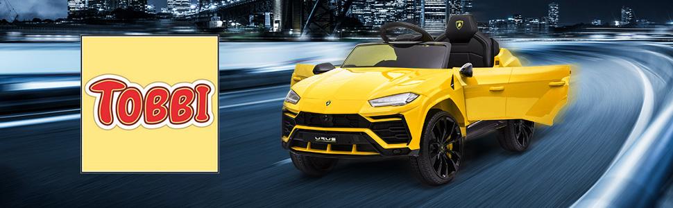 12V Lamborghini Licensed Electric Kids Ride on Car with Remote Control, Yellow TH17W0604 1