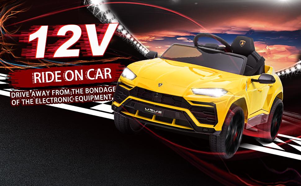 12V Lamborghini Licensed Electric Kids Ride on Car with Remote Control, Yellow TH17W0604 2