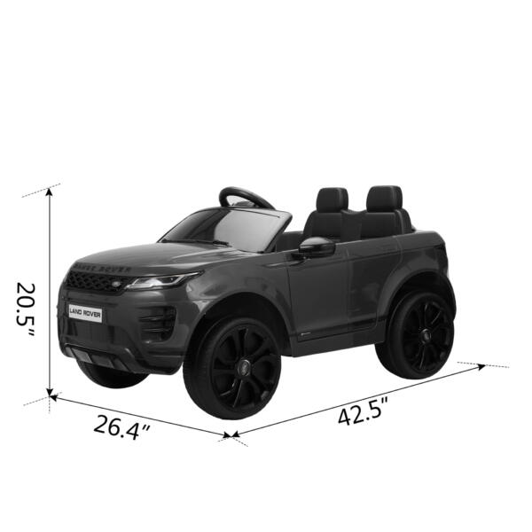 12V Land Rover Ride-on SUV Car for Kids, Black TH17W0622 cct57