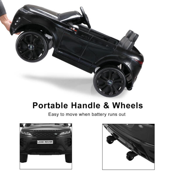 12V Land Rover Ride-on SUV Car for Kids, Black TH17W0622 zt56