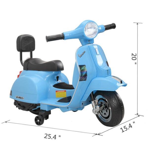 Vespa 6V Kids Ride-on Toys for Aged 3-6, Blue TH17X047913