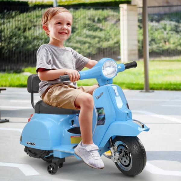 Vespa 6V Kids Ride-on Toys for Aged 3-6, Blue TH17X047914
