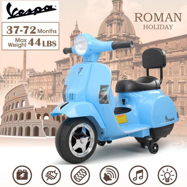 Vespa 6V Kids Ride-on Toys for Aged 3-6, Blue TH17X047915
