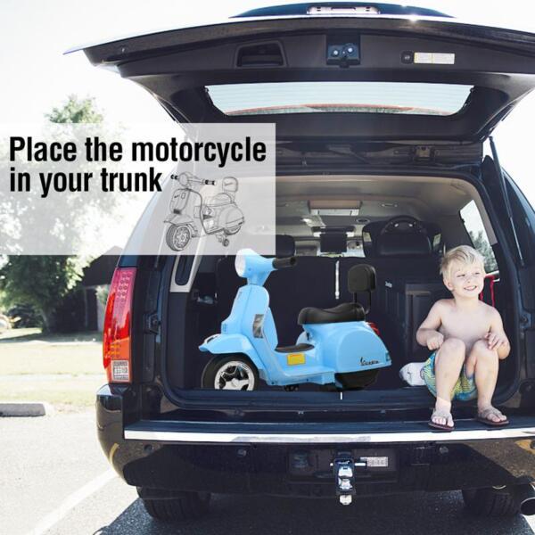 Vespa 6V Kids Ride-on Toys for Aged 3-6, Blue TH17X047916