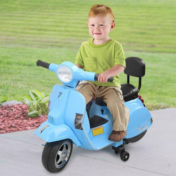 Vespa 6V Kids Ride-on Toys for Aged 3-6, Blue TH17X047917 1 1