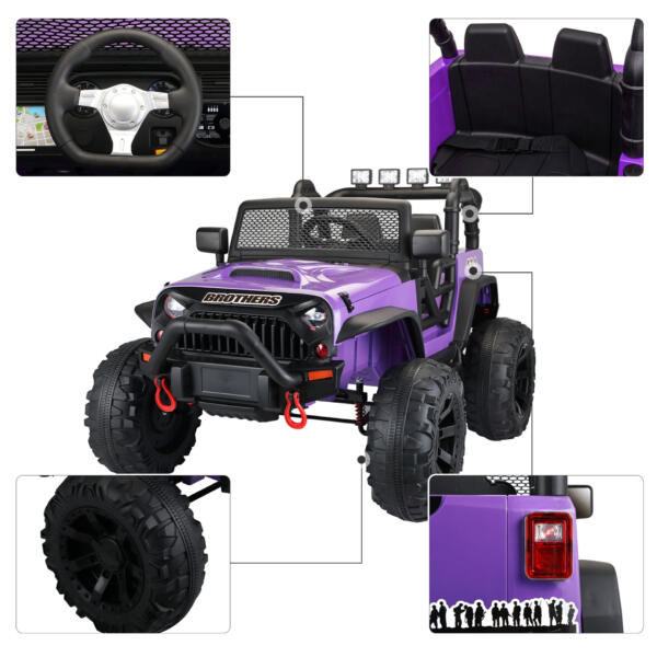 12V Remote Control Ride On Jeep Electric Car for Child TH17Y0498 zt 4