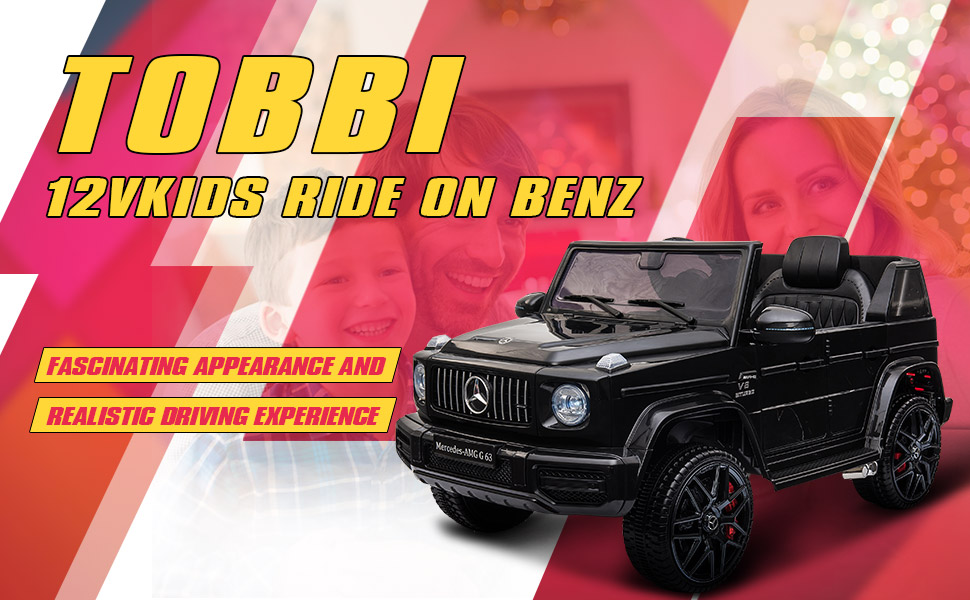 12V Mercedes-Benz AMG G63 Kids Ride On Cars Toys with Remote Control, Black TH17Y0552 2