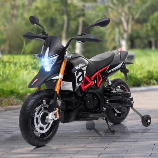 Aprilia Licensed 12V Kids Ride-On Motorcycle, Black TH17Y066010 2