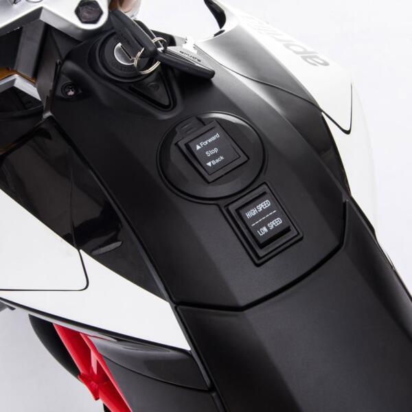 Aprilia Licensed 12V Kids Ride-On Motorcycle, Black TH17Y066019 1