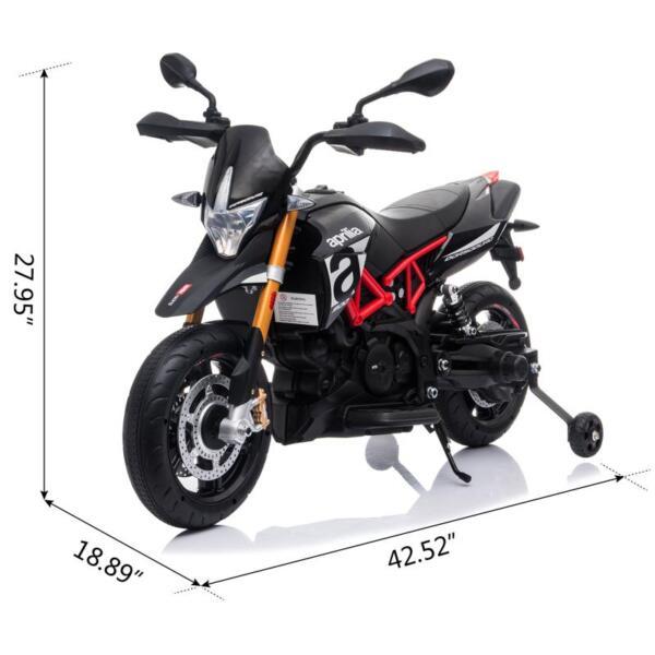Aprilia Licensed 12V Kids Ride-On Motorcycle, Black TH17Y06606 1