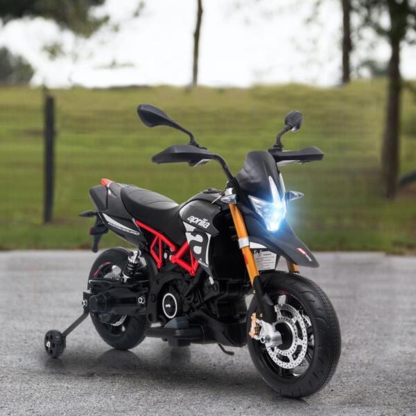 Aprilia Licensed 12V Kids Ride-On Motorcycle, Black TH17Y06607 1