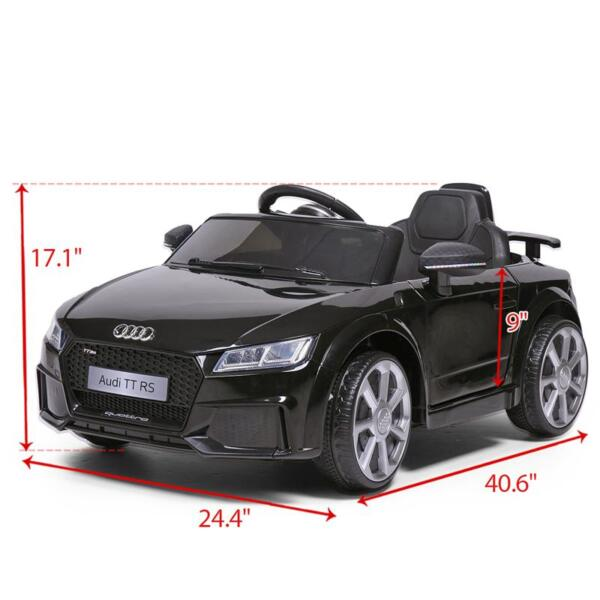 Audi TT RS Licensed Ride On Car, Black audi tt rs licensed ride on car black 25