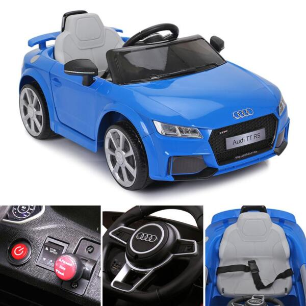 Audi TT RS Ride On Car For Kids With Remote Control, Blue audi tt rs licensed ride on car blue 14 3