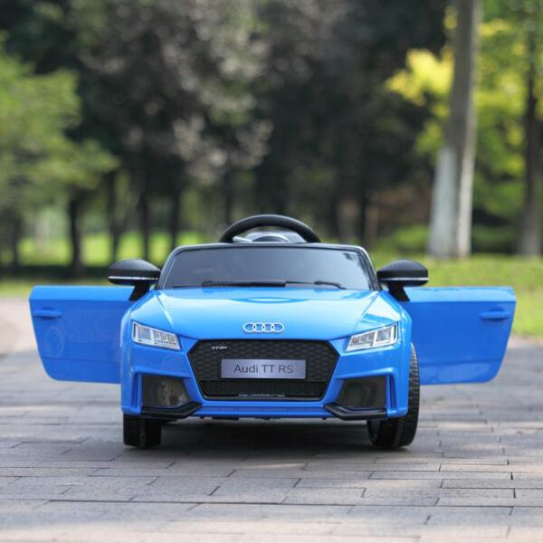 Audi TT RS Ride On Car For Kids With Remote Control, Blue audi tt rs licensed ride on car blue 32