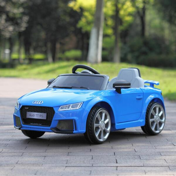 Audi TT RS Ride On Car For Kids With Remote Control, Blue audi tt rs licensed ride on car blue 33
