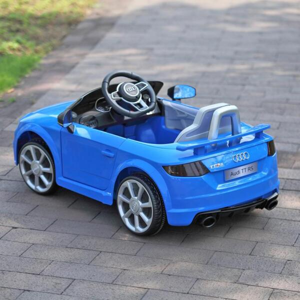 Audi TT RS Ride On Car For Kids With Remote Control, Blue audi tt rs licensed ride on car blue 35