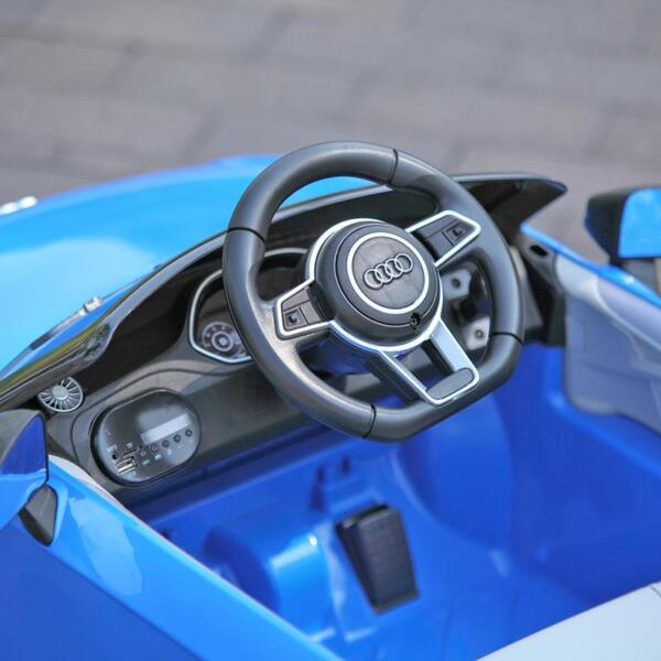 Audi TT RS Ride On Car For Kids With Remote Control, Blue audi tt rs licensed ride on car blue 36