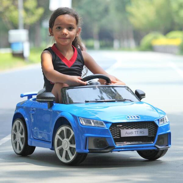 Audi TT RS Ride On Car For Kids With Remote Control, Blue audi tt rs licensed ride on car blue 40