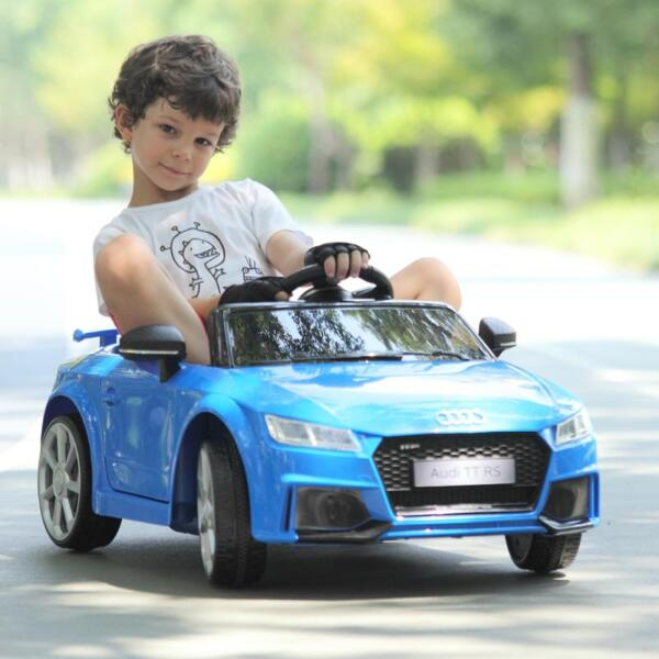 Audi TT RS Ride On Car For Kids With Remote Control, Blue audi tt rs licensed ride on car blue 43 1
