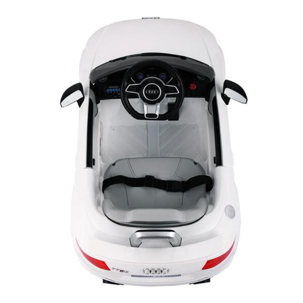 Audi TT RS Ride On Car For Kids With Remote Control, White audi tt rs licensed ride on car white 21
