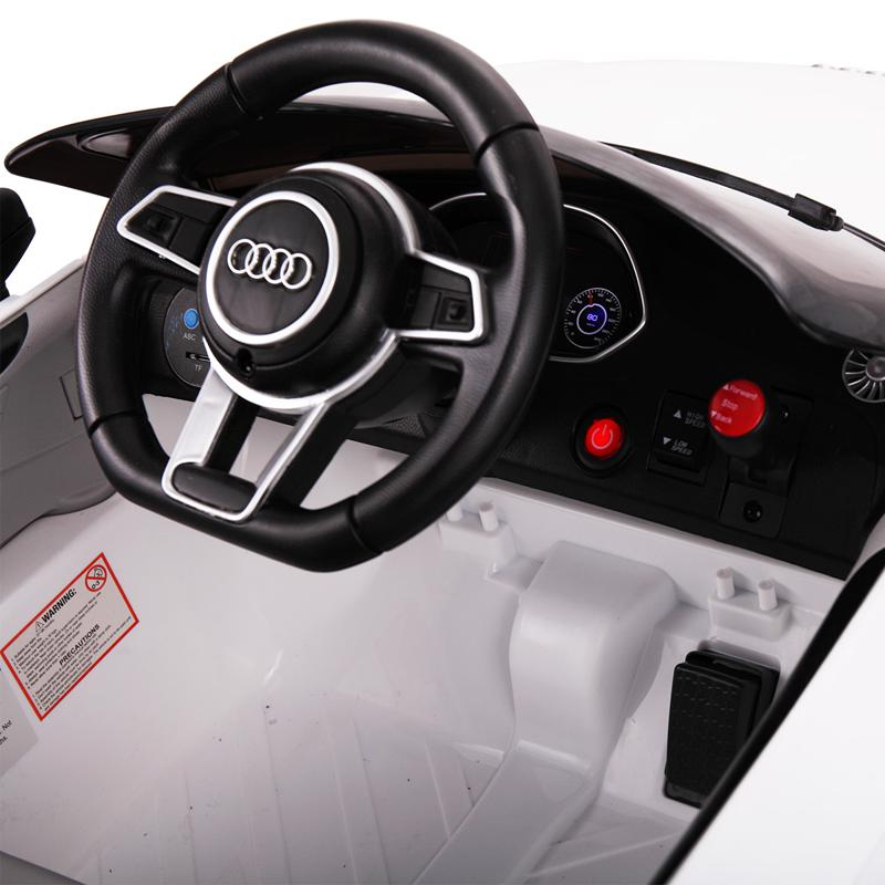 Audi TT RS Ride On Car For Kids With Remote Control, White audi tt rs licensed ride on car white 24