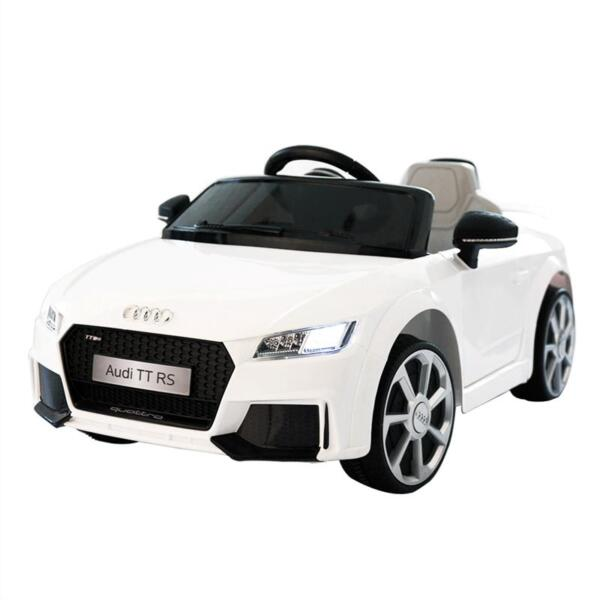 Audi TT RS Ride On Car For Kids With Remote Control, White audi tt rs licensed ride on car white 26