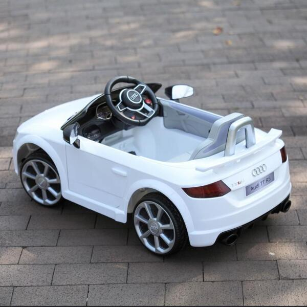 Audi TT RS Ride On Car For Kids With Remote Control, White audi tt rs licensed ride on car white 33