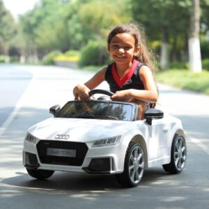 Selling audi tt rs licensed ride on car white 36 best selling on TOBBI