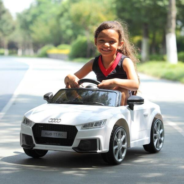 Audi TT RS Ride On Car For Kids With Remote Control, White audi tt rs licensed ride on car white 36
