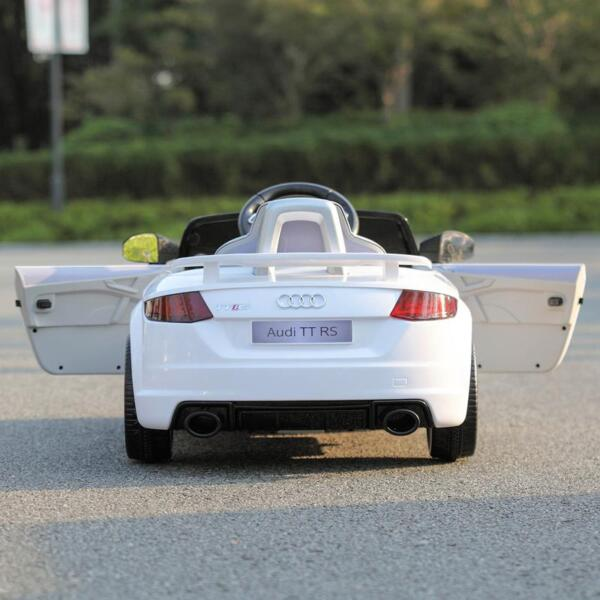 Audi TT RS Ride On Car For Kids With Remote Control, White audi tt rs licensed ride on car white 44