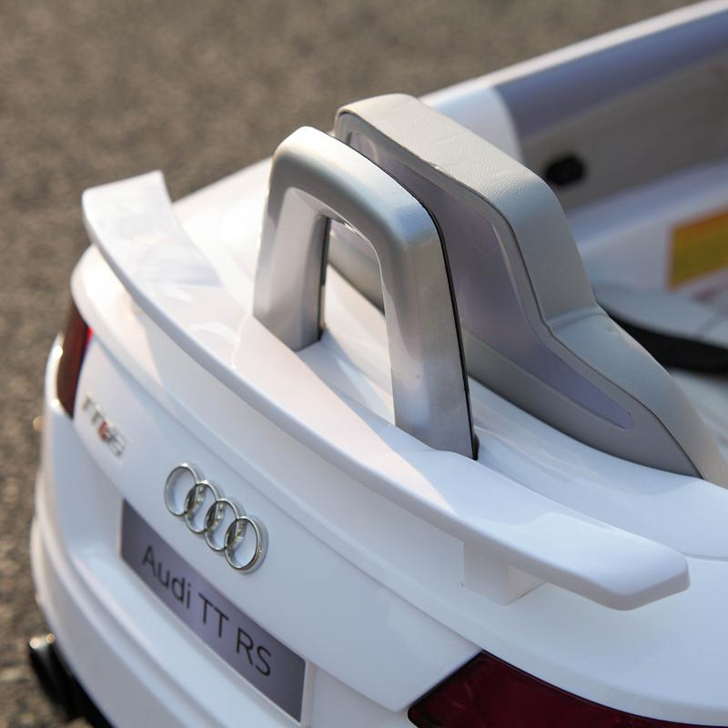 Audi TT RS Ride On Car For Kids With Remote Control, White audi tt rs licensed ride on car white 46