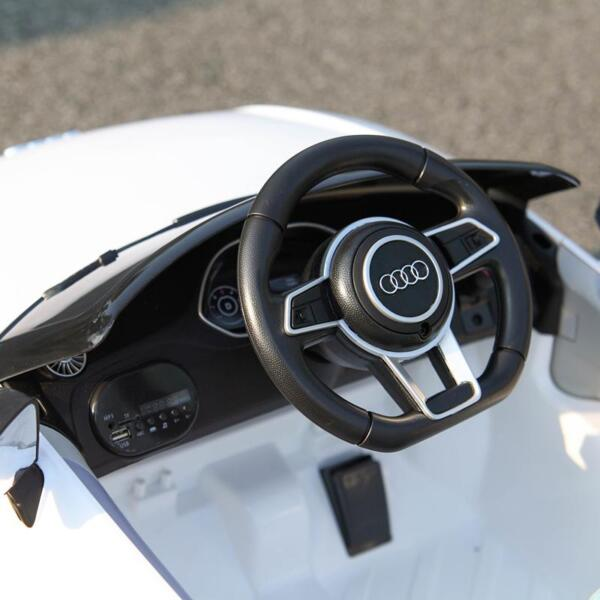Audi TT RS Ride On Car For Kids With Remote Control, White audi tt rs licensed ride on car white 47