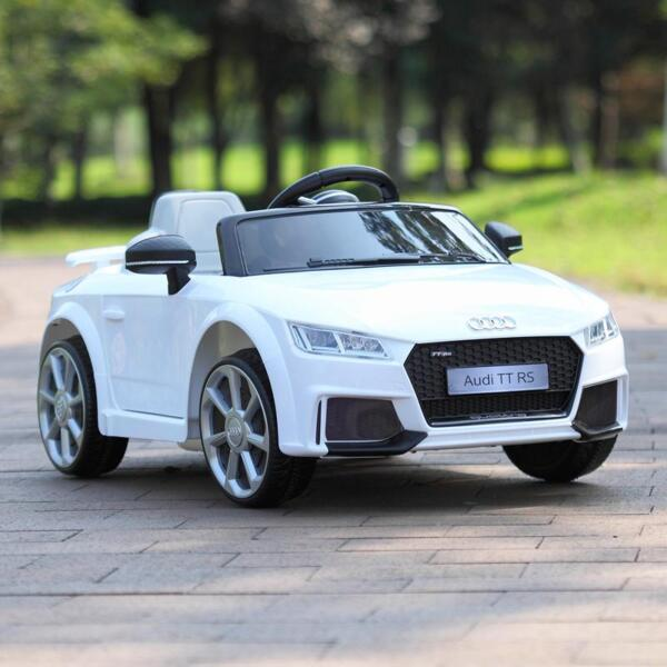 Audi TT RS Ride On Car For Kids With Remote Control, White audi tt rs licensed ride on car white 48