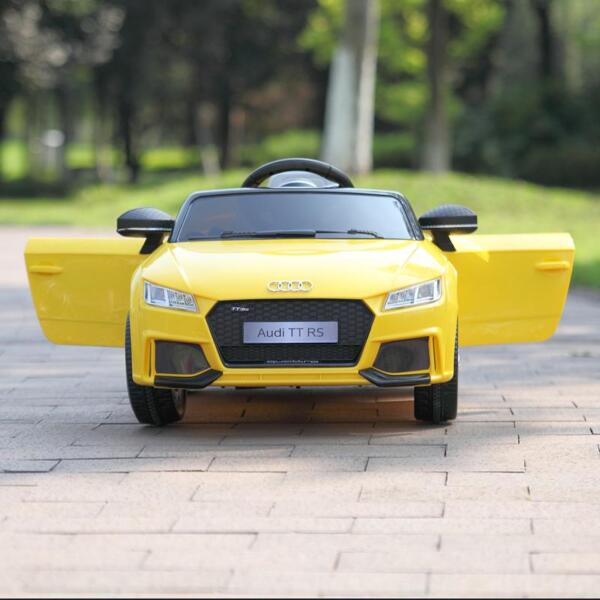 Audi TT RS Ride On Car For Kids With Remote Control, Yellow audi tt rs licensed ride on car yellow 16