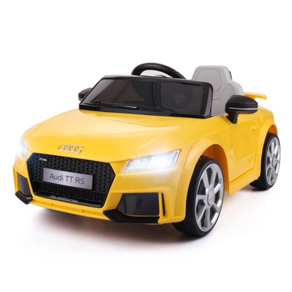 Audi TT RS Ride On Car For Kids With Remote Control, Yellow audi tt rs licensed ride on car yellow 2