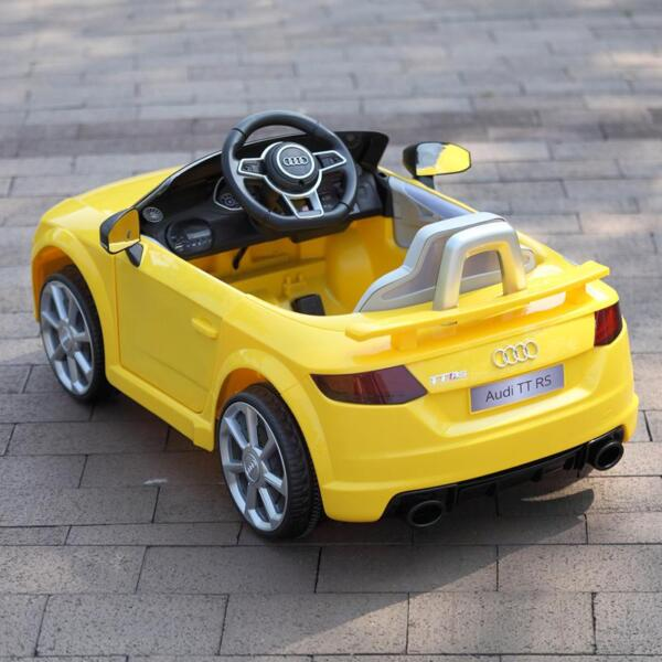 Audi TT RS Ride On Car For Kids With Remote Control, Yellow audi tt rs licensed ride on car yellow 20
