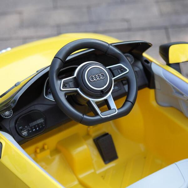 Audi TT RS Ride On Car For Kids With Remote Control, Yellow audi tt rs licensed ride on car yellow 21