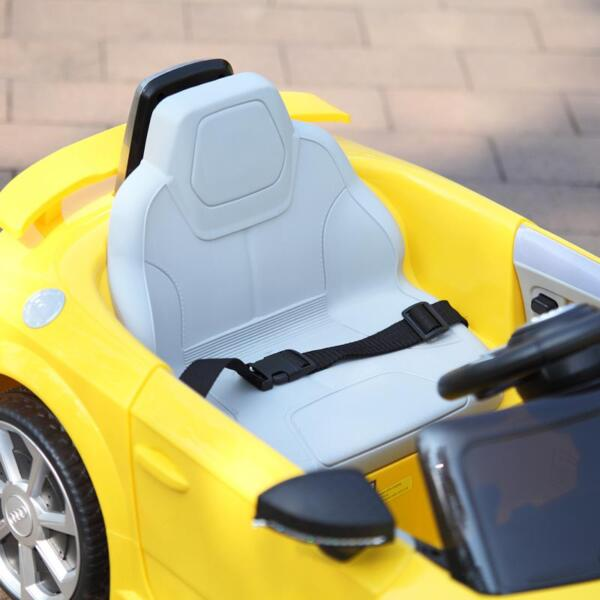 Audi TT RS Ride On Car For Kids With Remote Control, Yellow audi tt rs licensed ride on car yellow 22