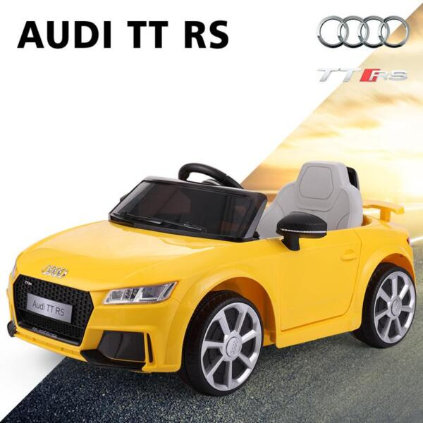 Audi TT RS Ride On Car For Kids With Remote Control, Yellow audi tt rs licensed ride on car yellow 45
