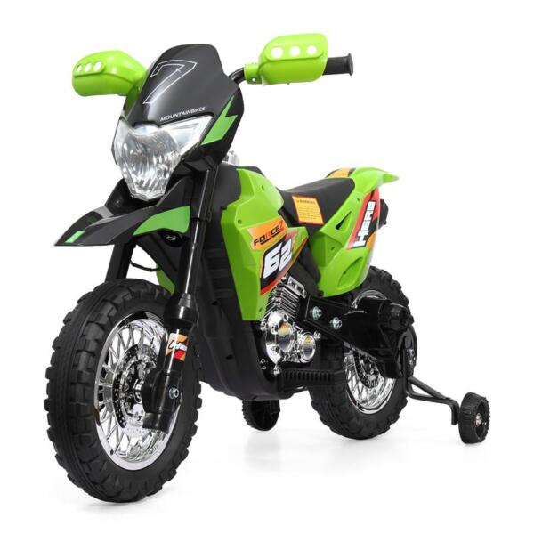 Auxiliary Kids Ride On Motorcycle, Green auxiliary kids ride on motorcycle green 1