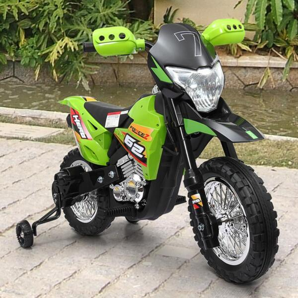 Auxiliary Kids Ride On Motorcycle, Green auxiliary kids ride on motorcycle green 45