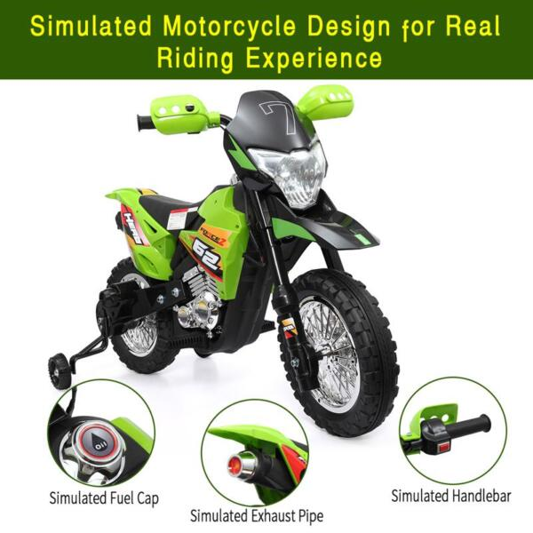 Auxiliary Kids Ride On Motorcycle, Green auxiliary kids ride on motorcycle green 57
