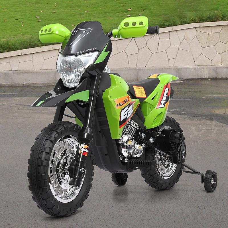 It's cool to drive this electric kids motorcycle out