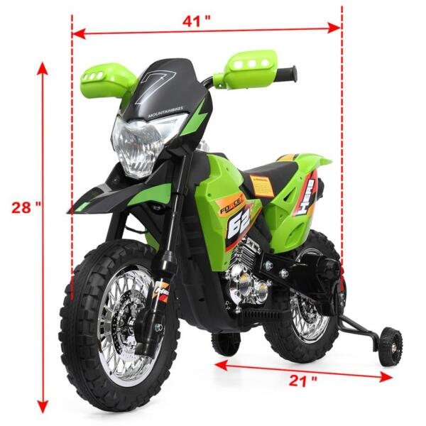 Auxiliary Kids Ride On Motorcycle, Green auxiliary kids ride on motorcycle green 62