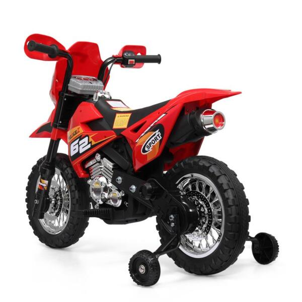 Auxiliary Kids Ride On Motorcycle, Red auxiliary kids ride on motorcycle red 10