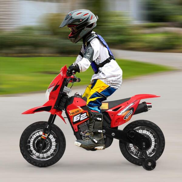 Auxiliary Kids Ride On Motorcycle, Red auxiliary kids ride on motorcycle red 27
