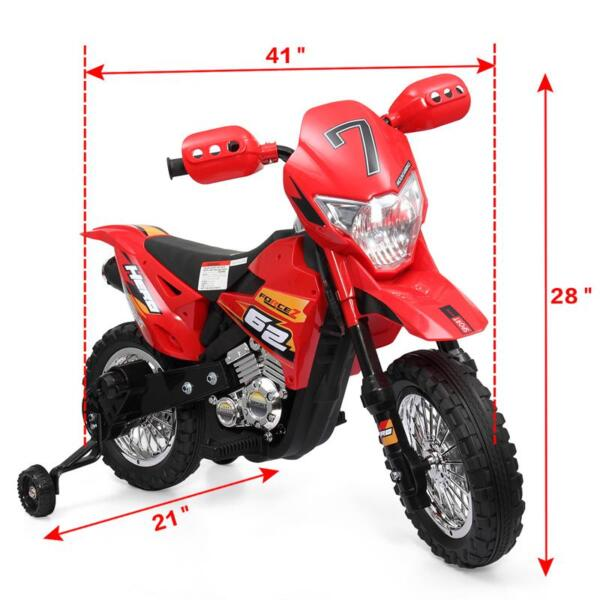 Auxiliary Kids Ride On Motorcycle, Red auxiliary kids ride on motorcycle red 39