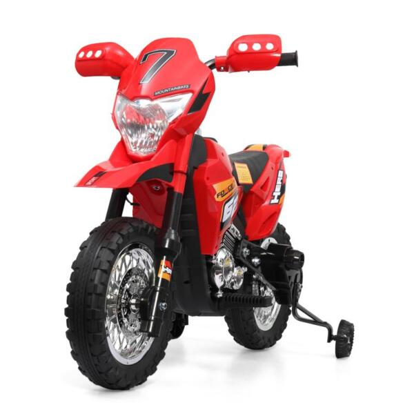 Auxiliary Kids Ride On Motorcycle, Red auxiliary kids ride on motorcycle red 7