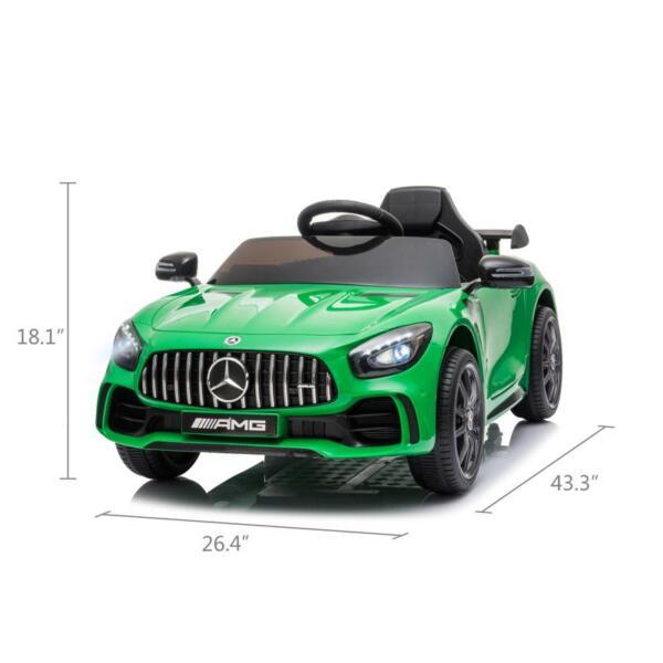 Benz GTR-AMG Licensed 12V Electric Car, Green benz gtr amg licensed 12v electric car black 0